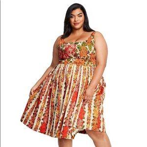 Isaac Mizrahi Floral Dress Plus Size 3X: Target